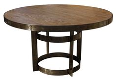 Organic Modern Industrial Round Dining Table by Julia Wong Home Collection from Mortise & Tenon furniture