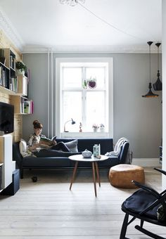 Nordic living room with couch from Bolia and personal travel finds.