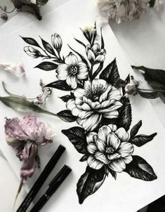 I love tattoos but I don't have any. I plan on getting one in the future, specifically flowers to represent my mom and grandmother. thigh tattoo 55 Sleeve Tattoos That Will Instantly Make You Jealous
