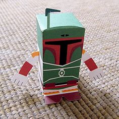 Boba Fett printable pop up- will have to make this for Jerry some time... #Toy-A-Day.blogspot.com