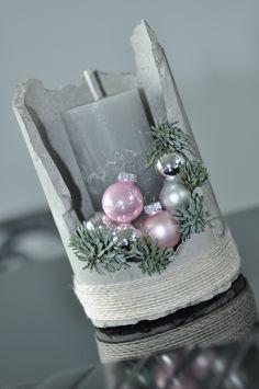 Betonowy świecznik Bożonarodzeniowy