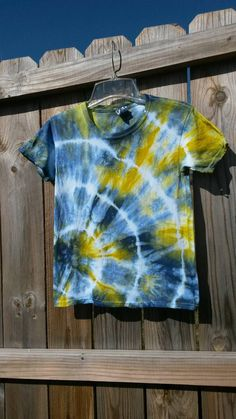 Tie Dye Shirt Kids Tie Dye Shirt Blue Green by MessyMommasTieDyes
