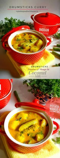How to make Sahjan Ki Phali & Potato Curry | Moringa Pods & Potato Curry In Coconut Milk| Tangy Mango & Drumstick Curry in Fresh Homemade Coconut Milk #Drumstick #curry #indianrecipes #indianfoodblogger #indiancurry #summerspecial #yummy #coconutmilk #rawmangoes #kacchikeri #mango #indianrecipes #tasteofindia #foodblogger #vegindiancooking