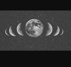 I want a full moon tattoo on my shoulder blade. White Ink, Black And White, Pretty Black, You Are My Moon, Laptop Wallpaper, Wallpaper Pic, New Moon, Moon Phases, Moon Child