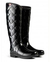 Hunter Ladies' Regent Sandhurst Savoy Wellington Boots - Black