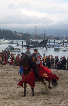 Festa da Arribada en Baiona (Pontevedra)