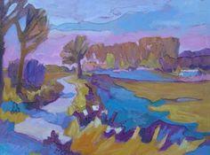 Galerie Bonnard | Herfst bij Haarsteegse door Paul Ebben. De natuur fascineert hem, waar landschappen, stilleven en portretten gecreëerd worden met olieverf en een expressief kleurenpalet.