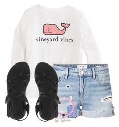 """""""can't wait for chaco weather!"""" by ellababy13 ❤ liked on Polyvore featuring Vineyard Vines, Frame Denim, Chaco, Essie, Honora, women's clothing, women, female, woman and misses"""