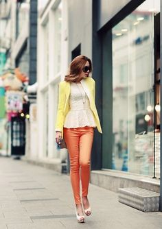 Pastels with neutral statement top