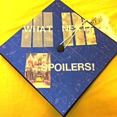 My graduation cap! Disney and Doctor who! What more could I ask for?