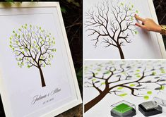 fingerprint tree as a wedding souvenir.