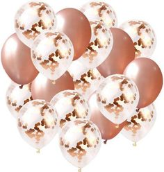 Bright Tricks Real Rose Gold 112 Pieces Balloon Garland Kit Balloon Arch for Weddings, Birthdays, Bridal Shower Decorations, Bachelorette Party, Backdrop Decorations RoseGold Confetti Blush Pink White Balloon Garland, Balloon Arch, Balloon Decorations, Wedding Decorations, Rose Gold Balloons, Wedding Balloons, Latex Balloons, Wedding Events, Weddings