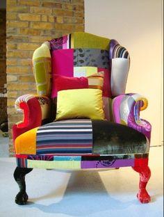 rainbow patch chair