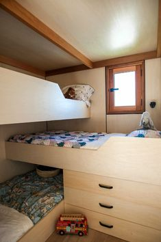This tiny house measures just 7m by 3m, but it's home to a Napier family with three children.