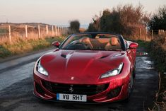 The Ferrari Portofino may be the 'entry-level' Italian GT, but it packs more punch than you might first realise Gt Cars, Bentley Continental Gt, Combustion Engine, Performance Cars, Automotive Design, Supercar, Ferrari, Garage, Vehicles