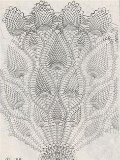 Details about Vintage Crochet PATTERN to make Pineapple Design Doily Centerpiece Mat 18 Crochet Tablecloth Pattern, Crochet Doily Diagram, Crochet Doily Patterns, Crochet Chart, Thread Crochet, Crochet Motif, Diy Crafts Crochet, Crochet Dollies, Pineapple Crochet