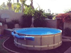 Hello TFP Starting our first little pool project - Page 3 Above Ground Pool Landscaping, Backyard Pool Landscaping, Pool Fence, Diy Swimming Pool, Diy Pool, Above Ground Pool Cover, Piscine Diy, Solar Pool Cover, Living Pool