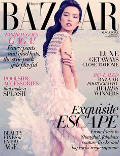 Sun Fei Fei on Harper's Bazaar Singapore