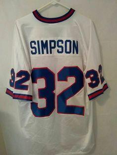 0d51a1157 VTG Buffalo Bills OJ Simpson jersey men s size XL PUMA white sewn  PUMA   BuffaloBills