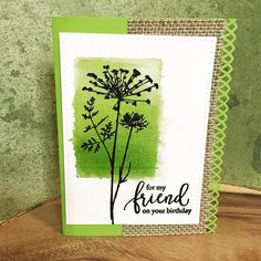 Day six #thedailymarker30day  A quick card using Distress Ink on an acrylic block. Flower from Inkadinkado/ Meadow, sentiment from Simon Says Stamp/ Friendship Blooms. #inkadinkadoo #distressinks #distressink #inkadinkado #simonsaysstamp