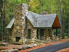 Small Stone Cabin House Plans English