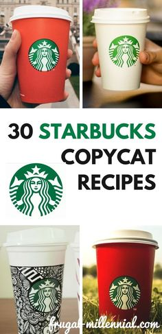 Starbucks is delicious, but it gets expensive! Now you can enjoy your favorite drinks without spending a ton of money - check out these 30 Starbucks copycat recipes! Frugal Tips, Frugal Meals, Budget Meals, Starbucks Recipes, Starbucks Drinks, Keurig Recipes, Hot Coffee, Coffee Drinks, Ways To Save Money
