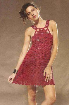 Patrón #1438: Vestido a Crochet | CTejidas [Crochet y Dos Agujas]