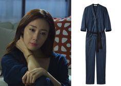 "Choi Ji-Woo 최지우 in ""Temptation"" Episode 6.  Isabel Marant Etoile Tadia Indigo Jumpsuit #Kdrama #Temptation 유혹 #ChoiJiWoo"