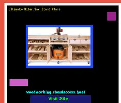 Ultimate Miter Saw Stand Plans 064100 - Woodworking Plans and Projects!