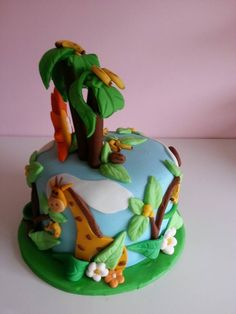 Jungle Theme cake by Sweet Temptations www.sweet-temptations.co