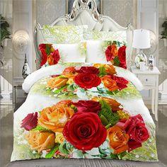 2015 hot 3D bedding sets king size bed linen include duvet cover/bed sheet/pillow cases reactive printing comforter bedding set