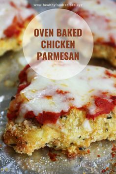 Easy, delicious and savory recipes for oven baked chicken parmesan. Oven Baked Chicken Parm Recipe, Baked Garlic Parmesan Chicken, Oven Chicken, Yummy Chicken Recipes, Chicken Legs, Oven Recipes, Grilled Chicken, Recipies