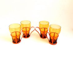 Fountain Glasses with Holders by 1006Osage on Etsy