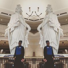 Davina poses with the Statue of Freedom at the U.S. Capitol Building in Washington D.C. She was part of an RCC tour group visiting the historic building for the day. #Capitol #washingtondc #freedom #statue #rappahannock #community #college #comm_college #instacollege #nnk #northernneck #northernneckva #middlepeninsula