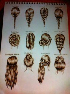hair sketch