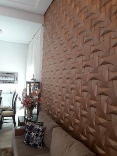 Revestimento em gesso 3D Bedroom Divider, Mdf Wall Panels, Homer Decor, Parquet Flooring, Industrial Loft, Marquetry, Drawing Room, 3d Wall, Decoration