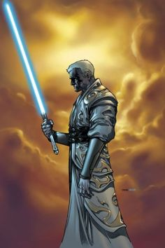 Jedi Master Lucien Draay from the Knights of the Old Republic comic series by Brian Ching