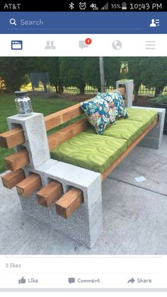 for outside.. And spray paint the cinder blocks