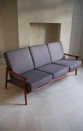 Guy Rogers afromosia Danish style retro sofa Antique Sofa, Retro Sofa, Danish Style, Minimalism, Guy, House Design, Couch, Interiors, Chair