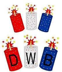 Fireworks Monogram Applique - 3 Sizes! | 4th of July | Machine Embroidery Designs | SWAKembroidery.com Band to Bow