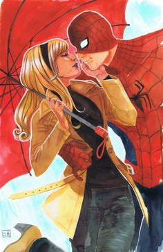 Spider-Man and Gwen Stacy by Stephanie Hans *