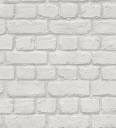 Papel pintado juvenil muro de ladrillos gris claro - 40390