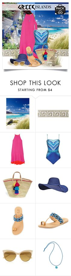 """""""Pack and Go: Greek Islands"""" by lenochca ❤ liked on Polyvore featuring Diane Von Furstenberg, Gottex, House of Perna, Elina Lebessi, Vivienne Westwood, Elena Votsi, Packandgo and greekislands"""