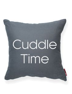 Cuddle Time Grey Throw Pillow