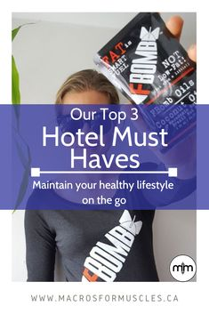 Travel and maintaining a healthy lifestyle can be hard to balance! Read the top 3 hotel must haves for 2 professional athletes. Wellness Fitness, Health Fitness, Packing Tips, Macros, Volleyball, How To Stay Healthy, Athletes, Muscles, Must Haves