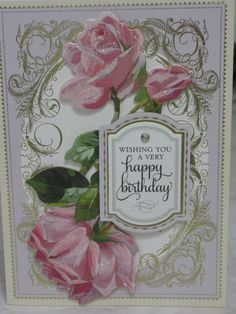 Birthday Card made from Anna Griffin Products. www.cardsofelegance.com