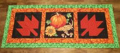 Fall Table Runner by PatsysPatchwork on Etsy
