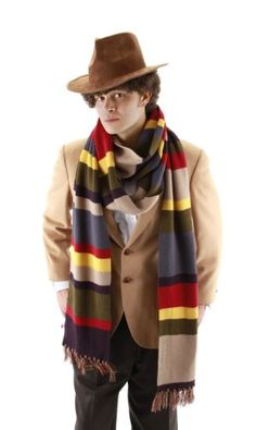 "Fourth Doctor Who Deluxe Twelve Foot Scarf - A full twelve feet long, 9"" wide, with multi-colored tassels at the ends. Great for fans of Doctor Who, and especially of the original series, and most especially of Tom Baker's famously long-scarved incarnation."