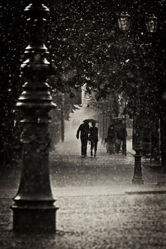.walking in the rain with the one you love.