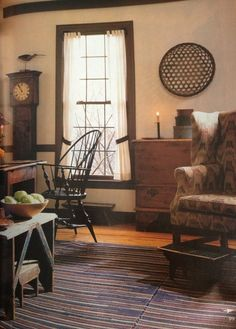Love Windsor chairs & wing chairs.